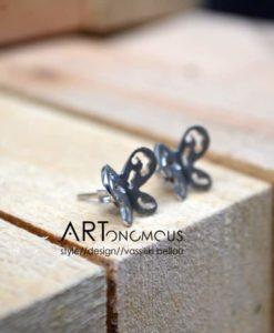 butterflies silver stud earrings artonomous