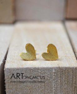 heart stud earrings artonomous
