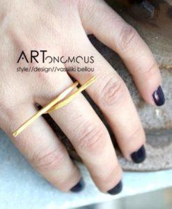 minimalist ring mary gaitani artonomous