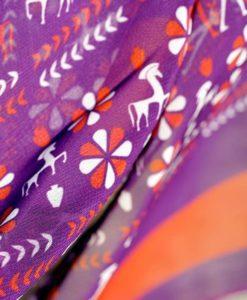 μωβ πορτοκαλί φουλάρι Lacrimosa Design Artonomous