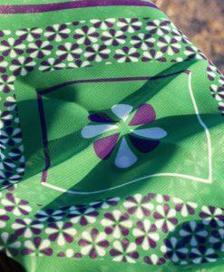 πράσινο μωβ φουλάρι Lacrimosa Design Artonomous