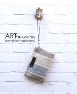striped clutch bag vinge project artonomous
