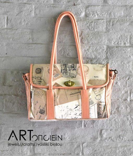 Χειροποίητη τσάντα ύφασμα Sweetcase Artonomous