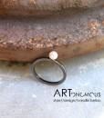 pearl ring A handmade artonomous