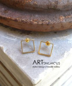 square earrings dedonaki artonomous