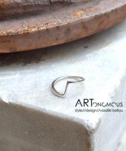 Δαχτυλίδι βέρα ασήμι