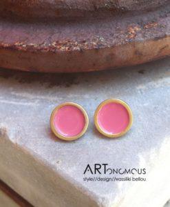 pink enamel earrings prigipo artonomous