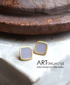 square enamel earrings artonomous