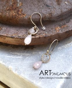 silver quartz earrings anyfantis artonomous