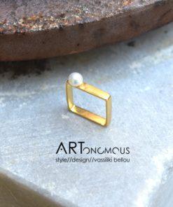 square pearl ring Dedonaki artonomous