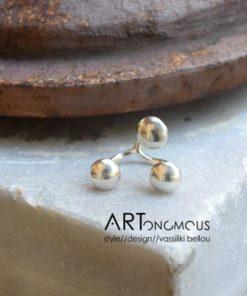 statement silver ring dedonaki artonomous