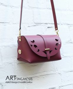 red leather bag passpartout artonomous