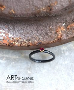 black tourmaline ring S Design artonomous