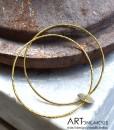 double bangle charm bracelet artonomous