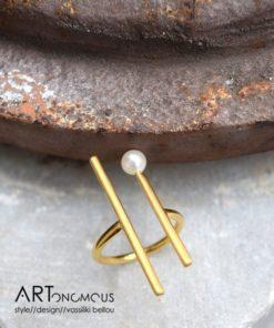 pearl ring A handmade Jewellery artonomous