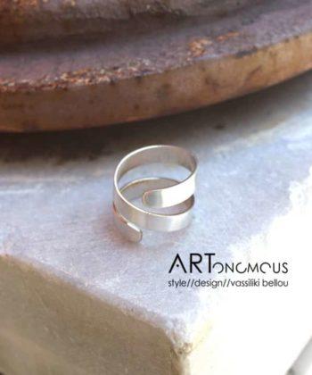 silver spiral ring astramma artonomous