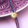 Βραχιόλι ασήμι επιχρυσωμένο φλουρί μοβ