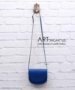 blue leather Saddle Bag artonomous