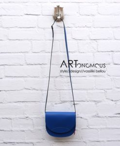 blue leather Saddle Bag artonomous