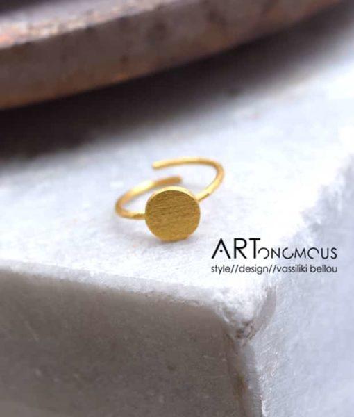 circle silver ring tsaprali artonomous