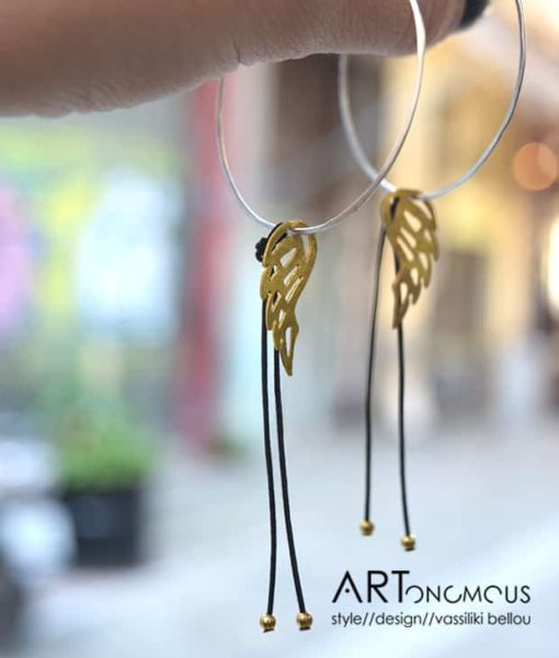 hoop feather earrings kampouri artonomous
