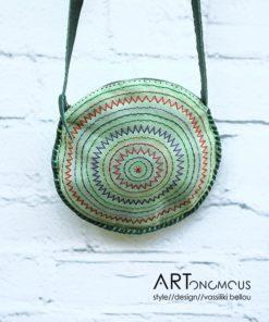 mint green leather bag artonomous