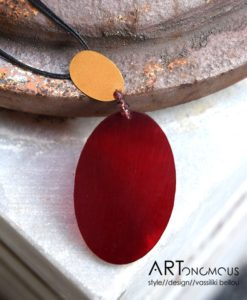red plexiglas pendant chrysoglou artonomous