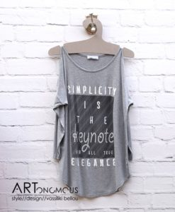 shoulder cut top Free Style ARTonomous