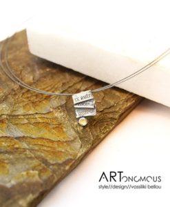 silver pendant Baudelaire dedonaki artonomous