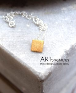 silver square pendant tsaprali artonomous