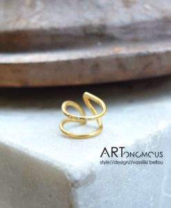 silver zircon chevalier ring kampouri artonomous