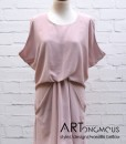 blush draped dress poeta artonomous