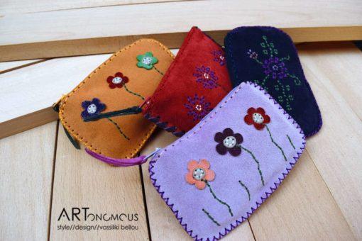 floral leather suede wallets artonomous