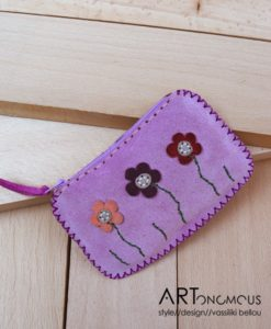 leather suede wallet artonomous
