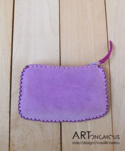 leather suede wallet artonomous