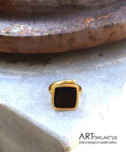 black enamel ring artonomous