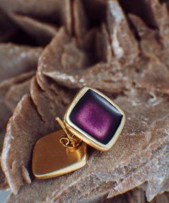 Enamel Earrings Purple Artonomous