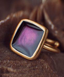 Enamel Ring Purple Artonomous