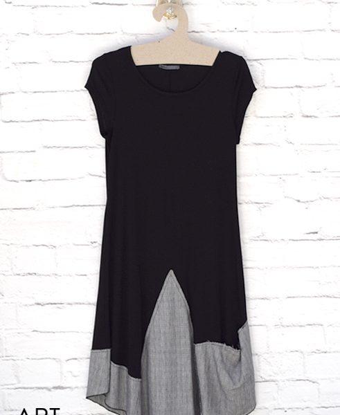 black midi dress helmi artonomous