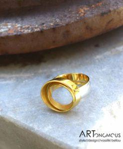 minimalist style ring areti stathopoulou artonomous