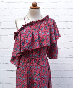Poeta Floral Dress Pink Artonomous1