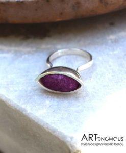 silver purple cocoon ring areti stahopoulou artonomous