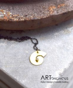 spiral silver pendant zoi kampouri artonomous