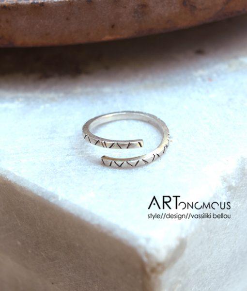 silver stacking ring artonomous