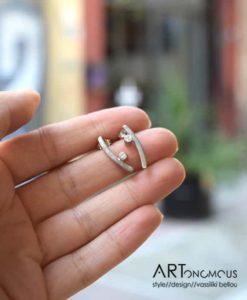 silver stud earrings artonomous