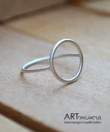 Πριγκιπώ δαχτυλίδι ασήμι κύκλος