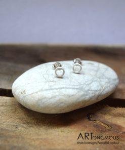 Ασημένια σκουλαρίκια κυκλάκι 002088