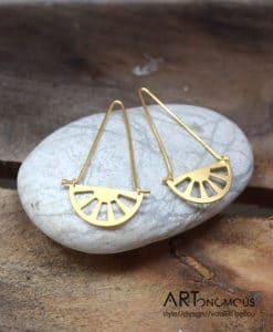Επίχρυσα σκουλαρίκια από τη συλλογή Unicorn 002087