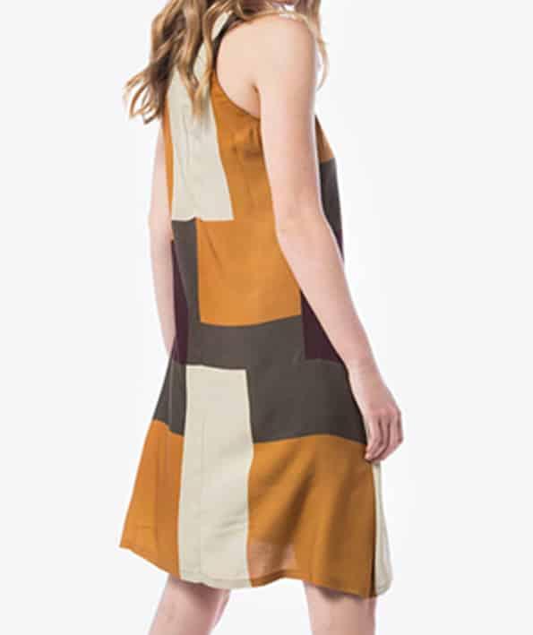 Φόρεμα αμάνικο με Γεωμετρικά σχέδια (3) - ARTonomous    Style    Design 3d3908b210b