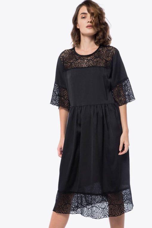 Φόρεμα Midi με δαντέλα 002073a (2)